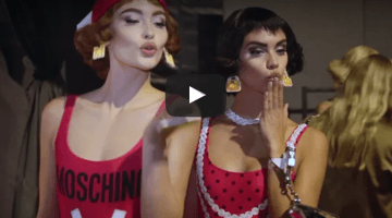 Backstage at Moschino Summer 2017 fashion show!